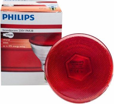 Лампа інфрачервона Philips PAR38 IR 175W E27 230V Red (923801444210)