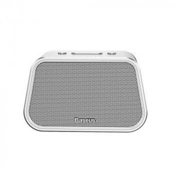 Акустична система Baseus Encok Multi-functional wireless speaker E02 (Aluminum alloy+U disk/TF card/AUX) Silver (NGE02-0S)
