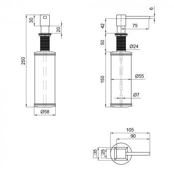 Дозатор для миючого засобу Lidz (CRM) 112 02 000 00