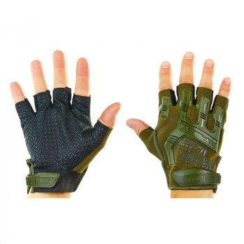 Перчатки тактические с открытыми пальцами Tactical Mechanix, код: BC-4926-L