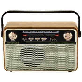 Радиоприемник Kemai Retro MD-505BT - Аккумуляторный радиоприемник с пультом управления Bluetooth