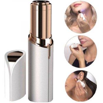 Эпилятор для удаления волос на лице Flawless Facial Hair Remover USB, женский триммер депилятор в форме помады