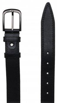 Мужской кожаный ремень Laras VN-GEN35R-125x2 Черный (ROZ6206113809)