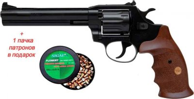 Револьвер флобера Alfa mod.461 ворон/дерево + 1 пачка патронів в подарунок