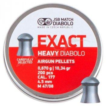 Пули пневм JSB Diablo Exact Heavy 4,52 мм 0,670 гр. (200 шт/уп)