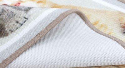 Круглий килим для кімнати Berni Сафарі 100 х 100 см Сірий (47020)