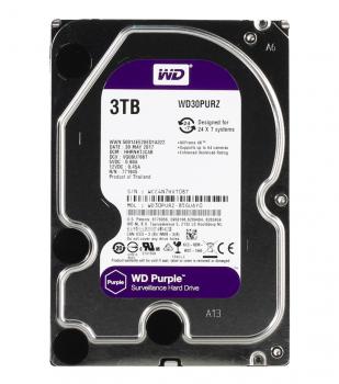 "Жорсткий диск 3.5"" 3Tb Western Digital Purple, SATA3, 64Mb, 5400 rpm (WD30PURZ)"