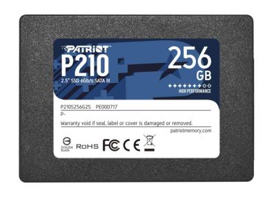 """Твердотільний накопичувач SSD Patriot P210, SATA3, 2,5"""" (P210S256G25) 256Gb"""
