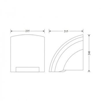 Сушилка для рук Zerix LR550 2000 Вт (SX70790)