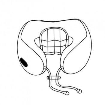 Подушка массажная для шеи U-Shaped Massage Pillow массажер для шеи Серо Желтый