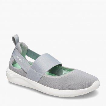 Слипоны Crocs Literide Mary Jane W Grey/White Relaxed Fit 206082-00J