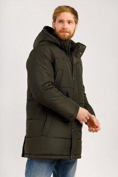Удлиненная мужская демисезонная куртка Finn Flare 19921012W-601 Хаки