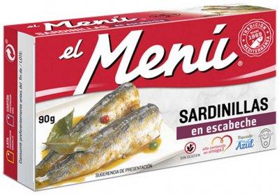 Сардины средиземноморские El Menu в маринаде 90 г (8410140026112)