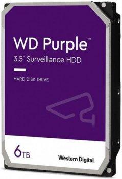 Накопичувач HDD SATA 6.0 TB WD Purple 5400rpm 128MB (WD62PURZ)