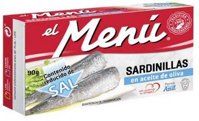 Сардины средиземноморские El Menu в оливковом масле 90 г (8410140026716)