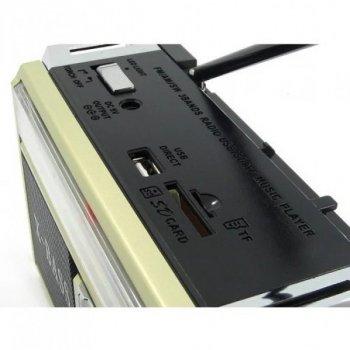 Радиоприёмник колонка с радио FM USB MicroSD и фонариком Golon RX-381 Gold на аккумуляторе