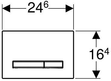Панель смыва GEBERIT Sigma 50 хром глянцевый 115.788.21.2
