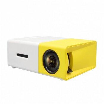 Портативный мини проектор LED Projector GTM YG-300 Original Поддержка аудио С креплением для штатива White/Yellow