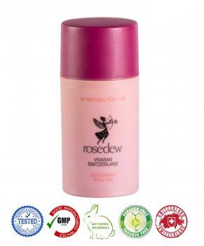 Натуральный швейцарский дезодорант шариковый Роуздью/Rosedew VIVASAN Original 75мл GMP Sertified Paraben free