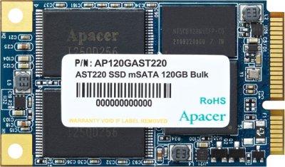 SSD внутренние APACER AST220 120GB mSATA TLC (AP120GAST220-1)