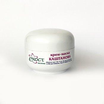 Крем-маска «Каштановая» ЭКОСТ для профилактики и устранения купероза и сосудистой сетки