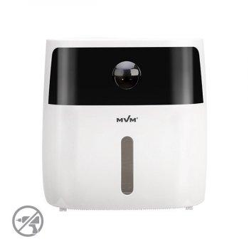 Тримач для туалетного паперу настінний з висувним ящиком для серветок MVM ВР-16, колір білий-чорний