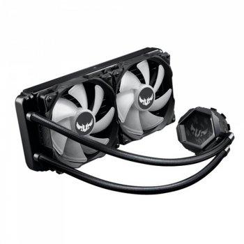 Система водяного охлаждения Asus TUF Gaming LC 240 RGB (TUF-LC-240 RGB), Intel:1200/1150/1151/1152/1155/1156/1366, AMD:AM4, 272x122x27мм, 4-pin