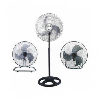 Вентилятор 2 в 1 напольный/настольный, металлические лопасти, осевой электрический для охлаждения помещения CHANGLI CROWN FS4521