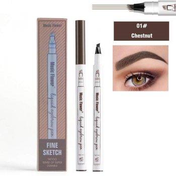 Маркер для очей з ефектом микроблейдинга Kiss Beauty Fine Sketch коричневий (TA-140100917)