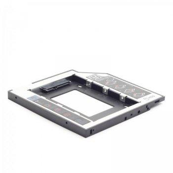 """Адаптер HDD 2,5"""" для ноутбука відсік CD-ROM Gembird MF-95-01 (9.5 мм)"""