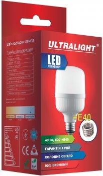 Светодиодная лампа Ultralight LED T120 40 Вт E27 с переходником на E40 (UL-50664)