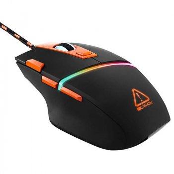 Мышь Canyon Sulaco CND-SGM04RGB Black/Orange USB