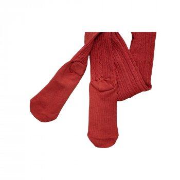 Дитячі колготки ( 1 шт ) George бордового кольору ажурні 7-8 років (122-128 см) 1600
