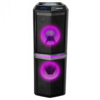 Акустическая колонка BLAUPUNKT PS10DB Черный с дисплеем и пультом ДУ + 2 беспроводных микрофона 1200 Вт