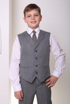 Жилет школьный для мальчика МШФ88 DM SASHKA серый