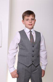 Жилет школьный для мальчика МШФ80 DM SASHKA серый