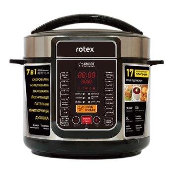Мультиварка скороварка пароварка Rotex 5 литров 900 Вт. Лучшая йогуртница домашняя фритюрница мощная помощница на кухне рисоварка REPC75BB