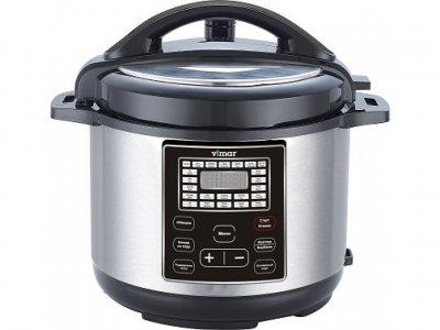 Мультиварка скороварка пароварка Vimar 6 литров 1000 Вт. Лучшая домашняя фритюрница мощная помощница на кухне рисоварка VMC271B
