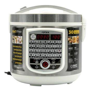 Мультиварка пароварка Rotex 5 литров 900 Вт. Лучшая йогуртница домашняя фритюрница мощная помощница на кухне рисоварка RMC505WW