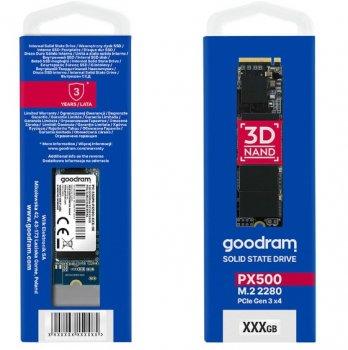 SSD 256GB GOODRAM PX500 M. 2 2280 PCIe NVMe 3.0 x4 3D TLC (SSDPR-PX500-256-80)
