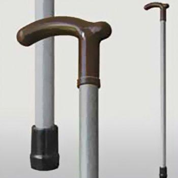 Трость Мірта Серый пластик деревянная (20000005200181)