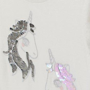 Джемпер H&M 2505-7669270 Білий/Єдинороги