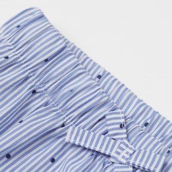 Трусики-шорты H&M 2603-8099721 Бело-голубой/Полоска