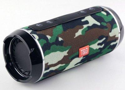 Портативная колонка T&G TG-116 аккумуляторная 1200 mAh с ручкой влагостойкая Камуфляж (10142)