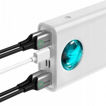 УМБ Baseus Amblight Digital Display (PD3.0+QC3.0) 33W 30000 mAh White (PPLG-02)