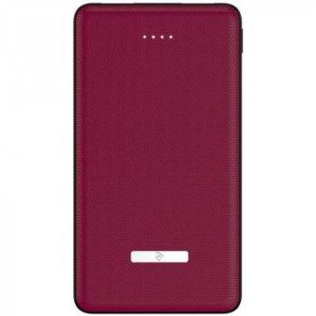 Батарея універсальна 2E SOTA series Slim 10000мА/год, DC 5V, 2USB-2.1 A&A 2.1, red (2E-PB1007AS-RED)