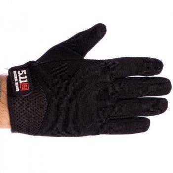 Тактические перчатки военные 5.11 Для рыбалки для охоты Полиэстер Флис Черный (BC-4921) L