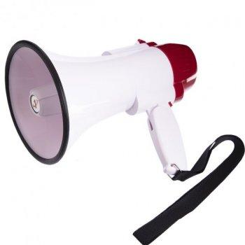 Громкоговоритель рупорный ручной Megaphone HW-8C USB с функцией записи голоса и USB зарядом аккумулятора