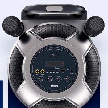 Портативная беспроводная Bluetooth акустическая система REMAX RB-X6 51W 4hours 4400mAh BT5.0 колонка чемодан караоке с микрофоном Black (RB-X6)