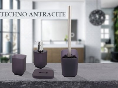 Ёршик для унитаза Trento Techno Antracite антрацит